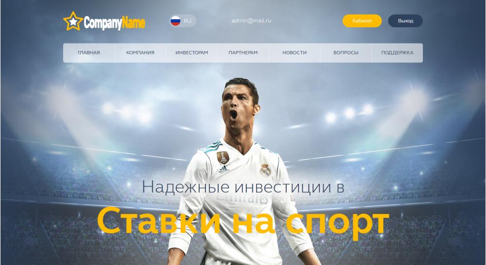 Unique hyip script for investment in sports DEMO14
